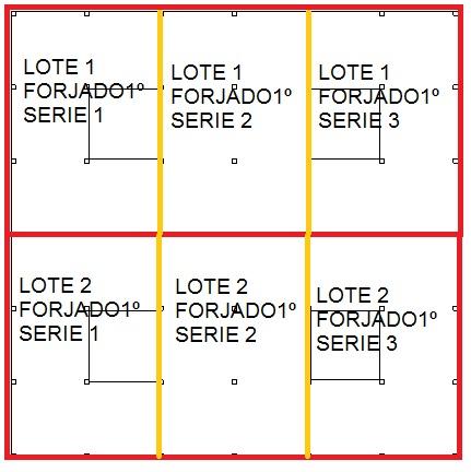 Distribución lotes y series forjado primero